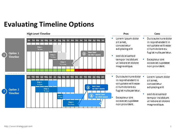 More Project Timeline Templates – Strategy Powerpoint Templates